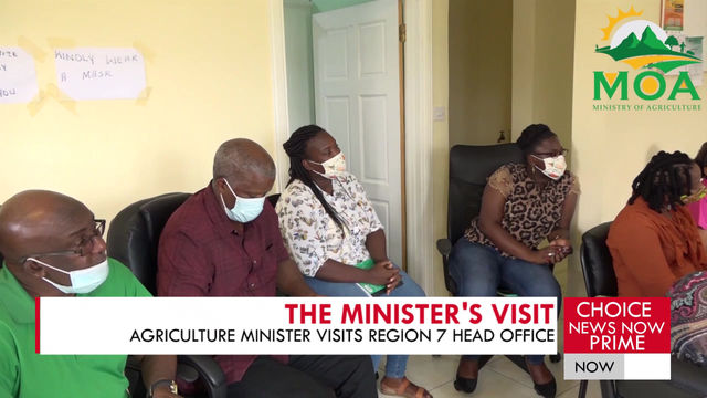 MINISTER FOR AGRICULTURE VISITS REGIONS 7 ON HIS TOUR.