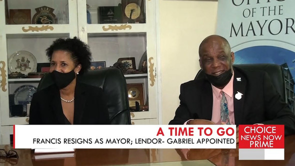 PETERSON FRANCIS RESIGNS, MAKING WAY FOR A NEW MAYOR OF CASTRIES.