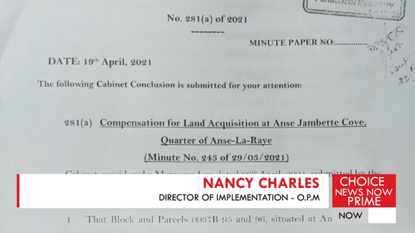 NANCY CHARLES PROVIDES GOVERNMENT'S SIDE OF THE STORY IN ONGOING ANSE JABETTE SAGA.