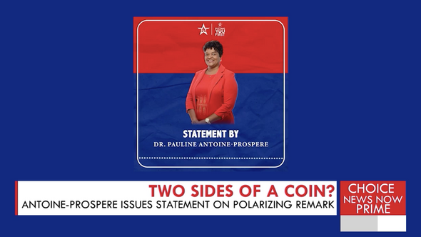THE SLP'S PAULINE ANTOINE PROSPERE ISSUES AN APOLOGY AFTER POLARIZING STATEMENTS.