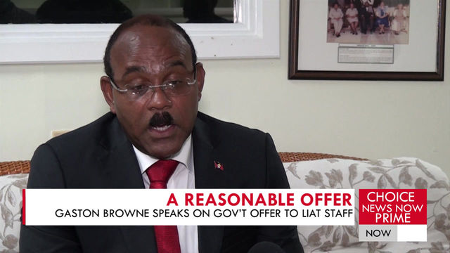 BROWNE GIVES AN UPDATE ON LIAT.