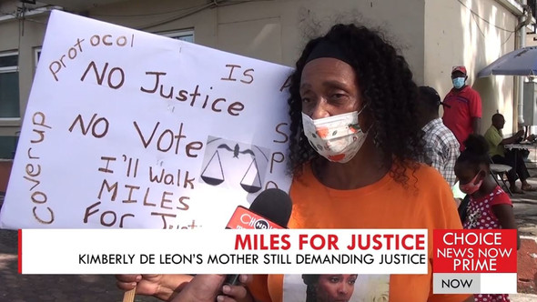KIMBERLY DE LEON'S MOTHER SAYS NO JUSTICE NO VOTE AS SHE CONTINUES HER QUEST FOR ANSWERS.