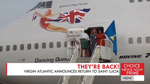 VIRGIN ATLANTIC IS SCHEDULED TO RESUME SERVICE TO SAINT LUCIA.