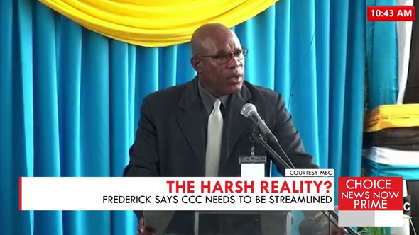 RICHARD FREDERICK SAYS REDUNDANCIES AT THE CCC ARE SIMPLY A CONSEQUENCE OF A STREAMLINING PROCESS.