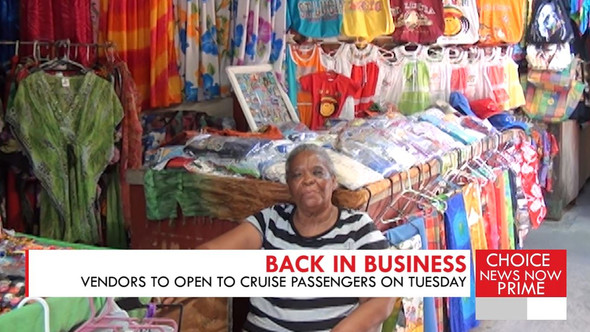 THE VENDORS ARCADE IN CASTRIES WILL OPEN TO CRUISE PASSENGERS ON TUESDAY.