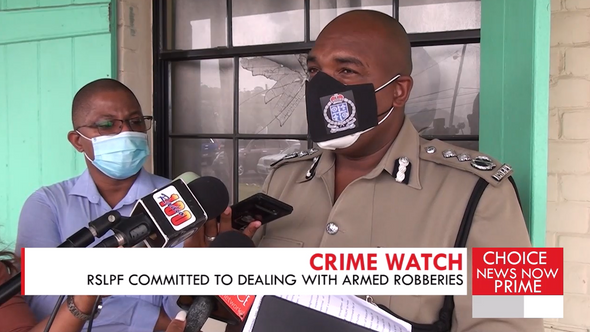 THE ROYAL SAINT LUCIA POLICE FORCE PROMISES TO COMBAT ROBBERIES HEAD-ON.