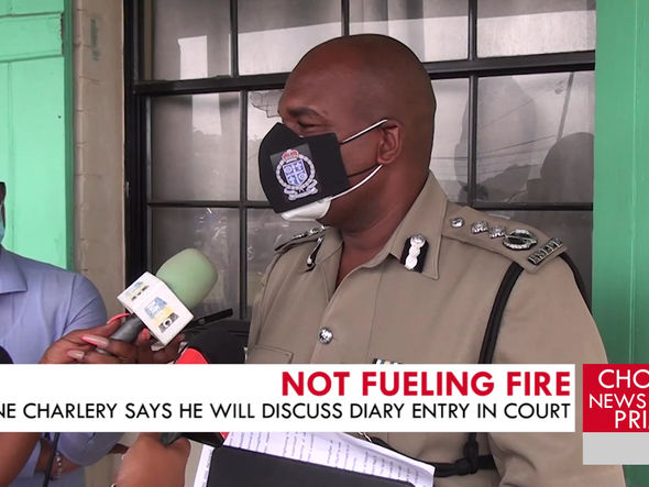 WAYNE CHARLERY SAYS HE WILL NOT FUEL FIRE BY DISCUSSING LAST YEAR'S CONTROVERSIAL DIARY ENTRY.