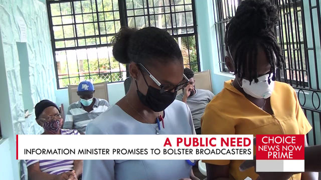 THE INFORMATION MINISTER DISCUSSES THE NEED FOR PROPER BROADCASTING SERVICES.