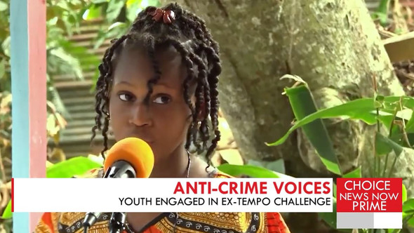 YOUNGSTERS USE THEIR TALENT AND CREATIVITY TO VOICE THEIR OPINIONS ON CRIME AND VIOLENCE.