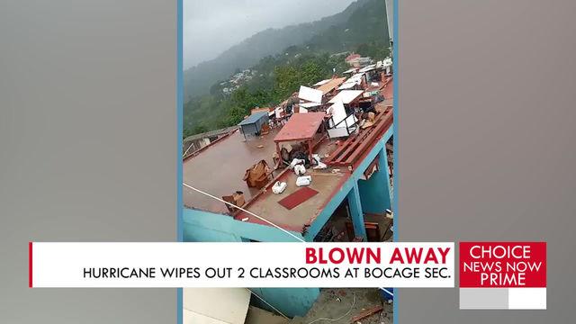 HURRICANE ELSA WREAKS HAVOC ON ONE LOCAL SECONDARY SCHOOL.