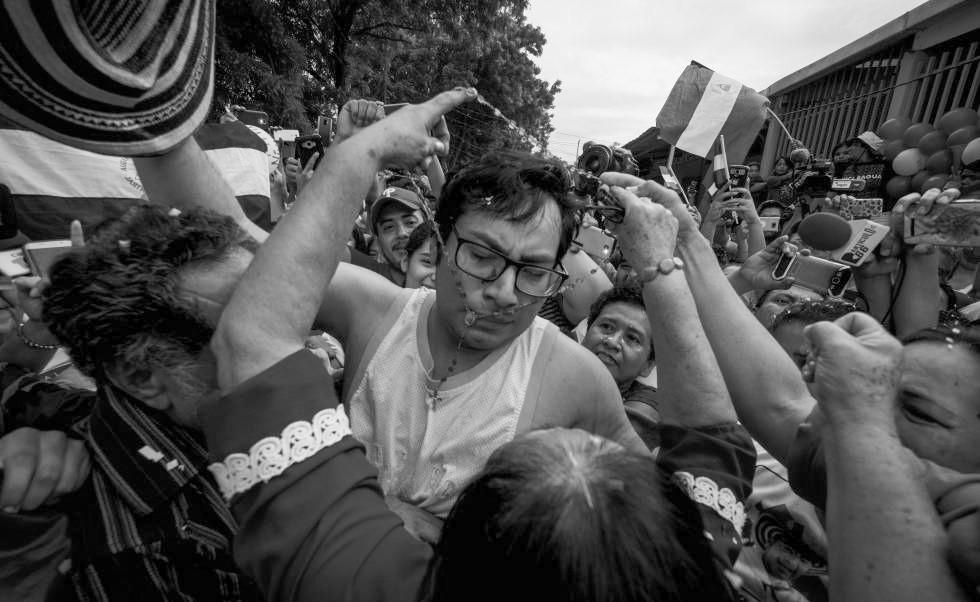 Día de la liberación de Yubrank y otros exreos políticos en Nicaragua- Fotografía de El País