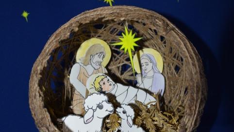 """Вот такая композиция у нас получилась. """"Рождение Спасителя в вертепе"""".jpg"""