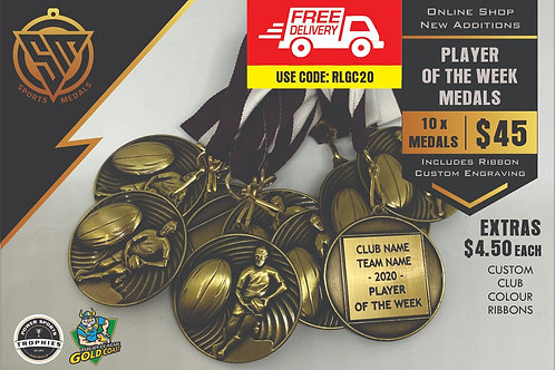 10 x Rugby League Medal