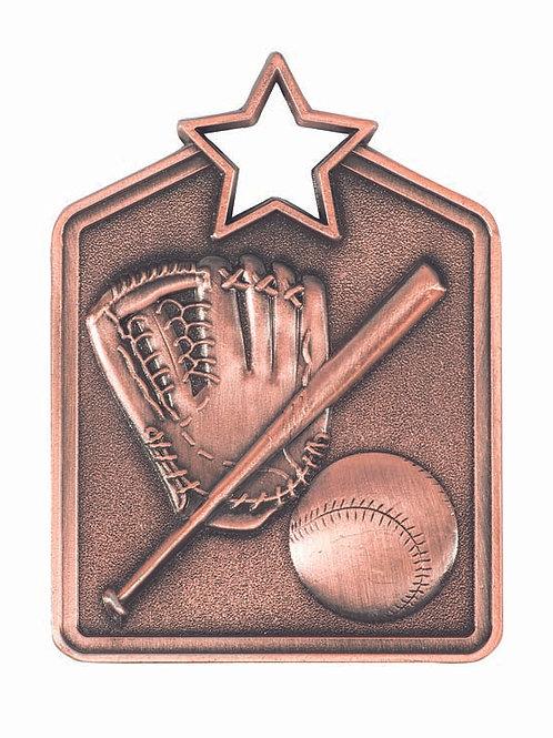 Baseball Shield Medal