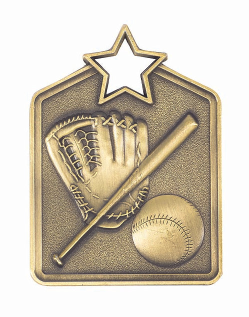 Baseball Shield Medal