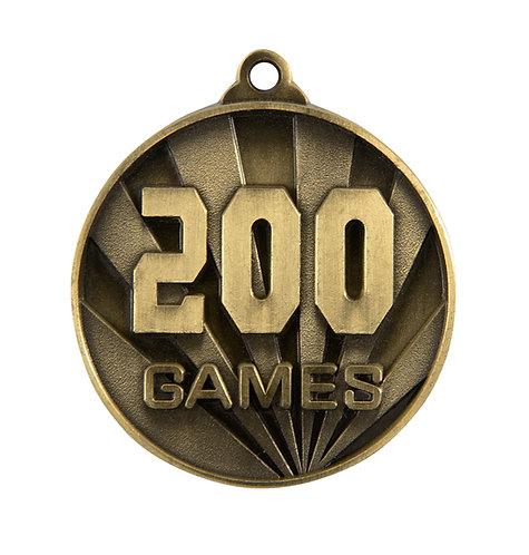 200 Games Medal