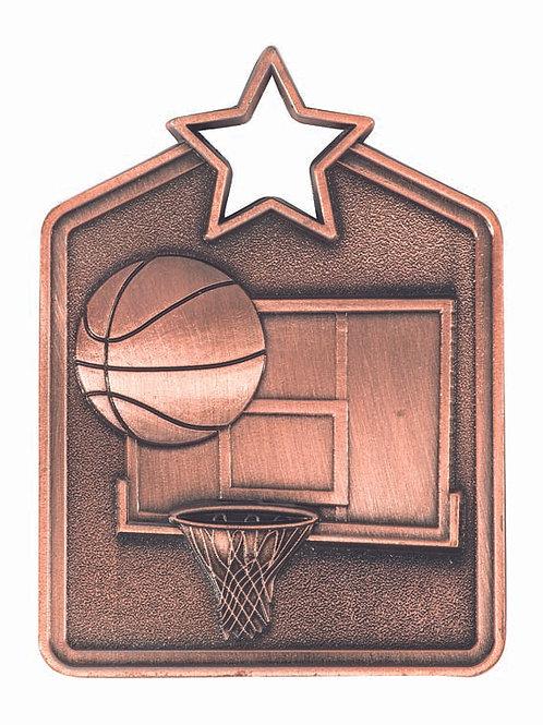 Basketball Shield Medal