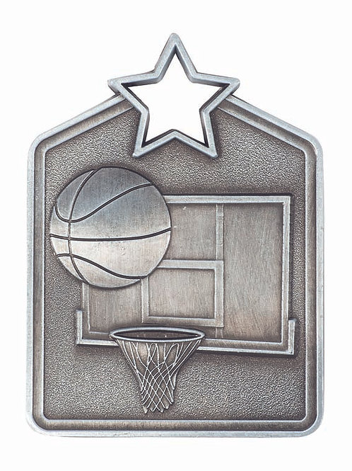 Basketball Shield Medal
