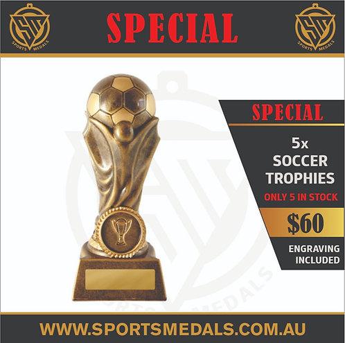 5 x 732-9GB Soccer Trophy