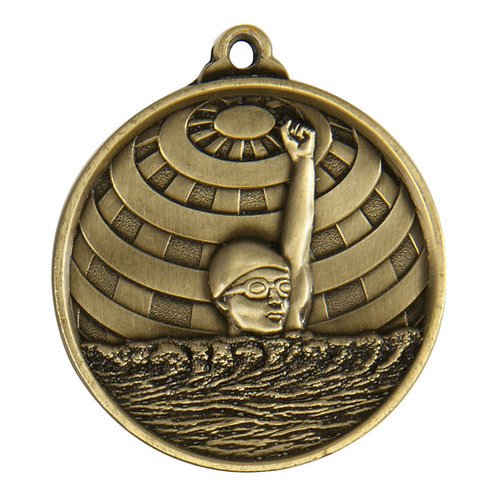 Swimming Globe Medal