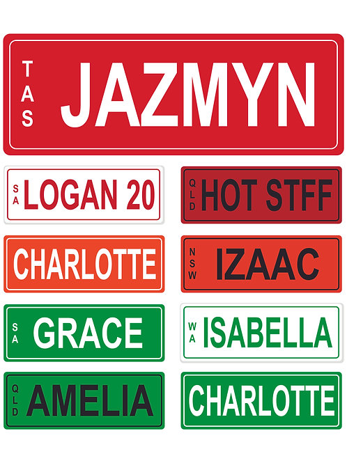 Kids Number Plate 14x5cm