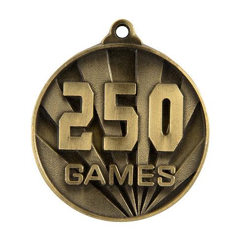 250 Games Medal