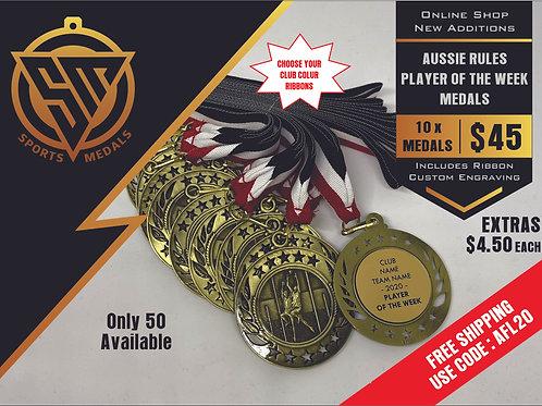 10 x Aussie Rules Galaxy Medal