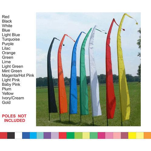 BALI FLAGS - Set 4 x 2.5 Meter COLOUR WEDDING BEACH GARDEN PARTY - FLAG ONLY