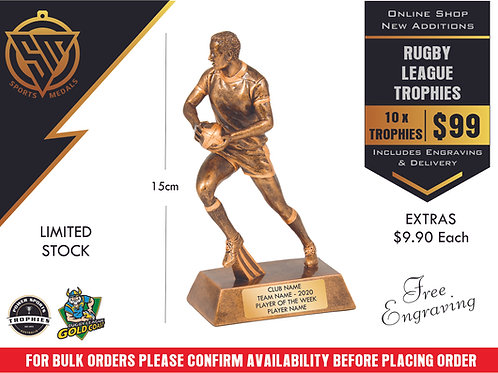 10 x Rugby League Trophy