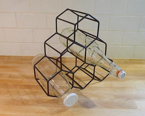 Porte-bouteilles métal noir