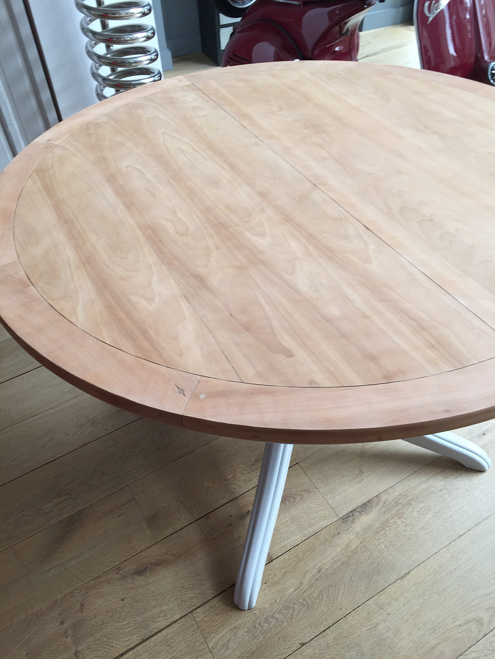 plateau de table entièrement poncé