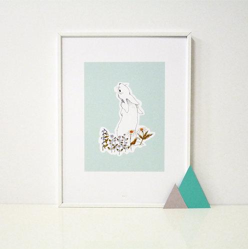 Affiche Bunny bleu