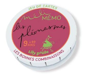 Les pléonasmes : jeu de cartes Méli mémo