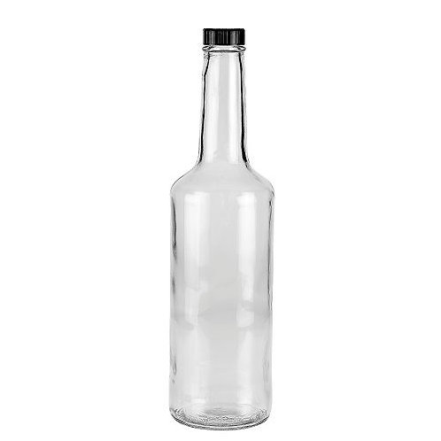 1 litre glass bottles with caps pk10