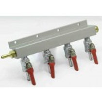 4 WAY GAS LINE-MANIFOLD SPLITTER WITH CHECK VALVES