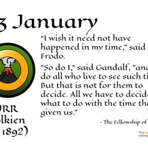 The Literary Year:  03 January