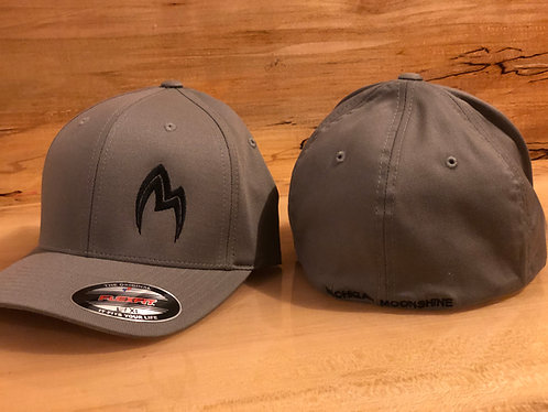 Grey hat with offset logo