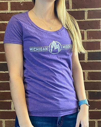 Full logo ladies fit t-shirt, purple
