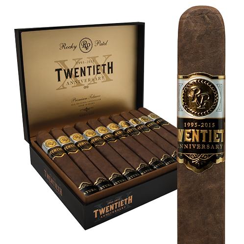 Rocky Patel 20th Anniversary- Robusto Grande Cigars- 5 X 54