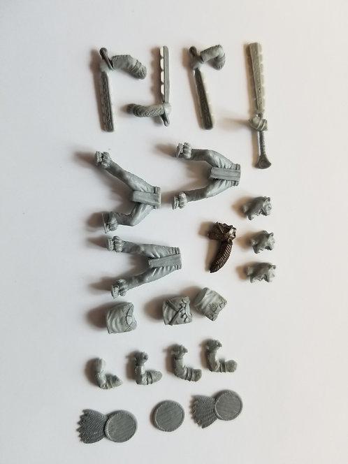 Aztec Jaguar Warrior 5 Man Unit