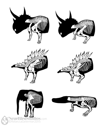 Dinosauria Postures Small Simplified