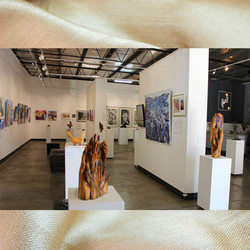 Image subject to Copyright. Gallery view.  Work in view includes all fourt artists.