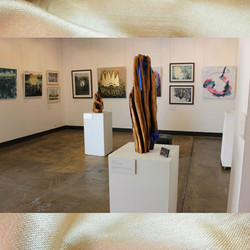 Image subject to Copyright. Gallery view.  Work in view, both Keith Chidzey & Stevon Orlando, seperately.