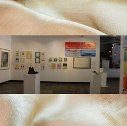 Image subject to Copyright. Gallery view.  Work in view, both Erin Kathleen Muir & Keith Chidzey, seperately.