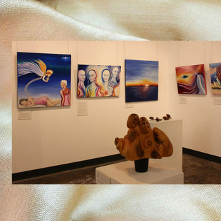 Image subject to Copyright. Gallery view.  Work in view, both Keith Chidzey & Sue Bishop, seperately.