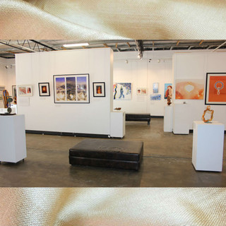 Image subject to Copyright. Gallery view.  Work in view includes all four artists.
