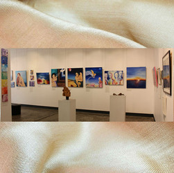 Image subject to Copyright. Gallery view.  Work in view includes, both Sue Bishop & Keith Chidzey, seperately.