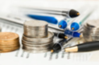 Spousal Support - Coins and pens