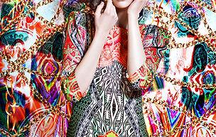 Model in Vibrant Pattern