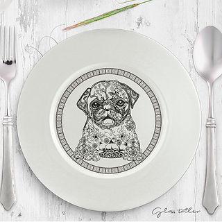plat ceramica gos decorat